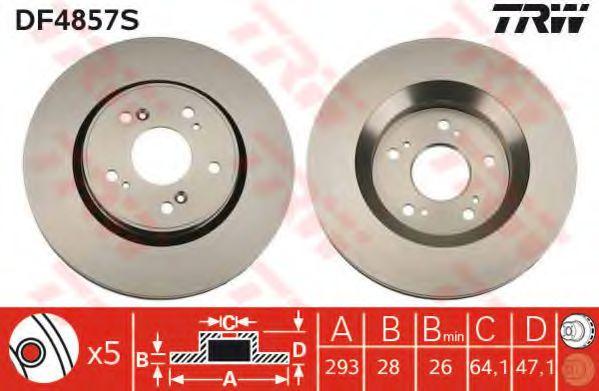DF4857S  TRW - Гальмівний диск  арт. DF4857S