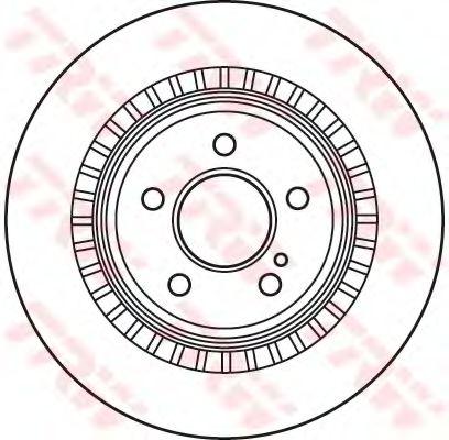 Тормозной диск TRW DF4916S