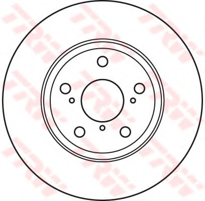 Тормозной диск TRW DF4939S