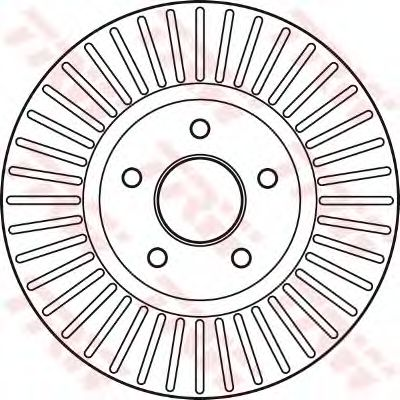 Тормозной диск TRW DF6019S