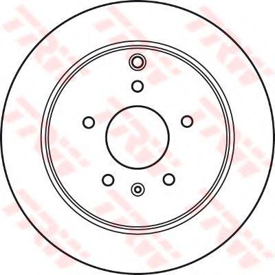 Диск тормозной CHEVROLET CAPTIVA задн., вент. (пр-во TRW)                                             арт. DF6024