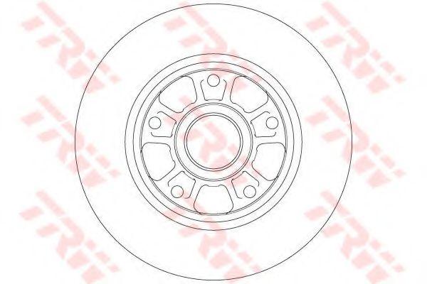 Диск гальмівний задній (без підшипника) 260x86,2 Renault Fluence, Megane III, CC, 08-  TRW DF6182