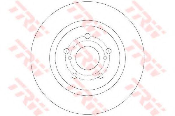 Тормозной диск TRW DF6324