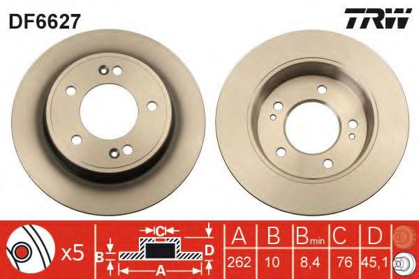 Тормозной диск  арт. DF6627