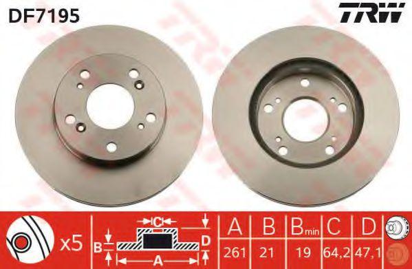 Гальмівний диск  арт. DF7195