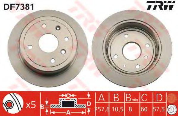 Гальмівний диск  арт. DF7381