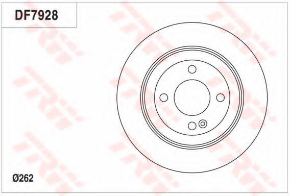 Тормозной диск TRW DF7928