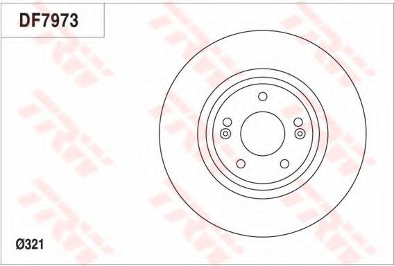 Тормозной диск  арт. DF7973