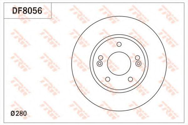 Тормозной диск  арт. DF8056