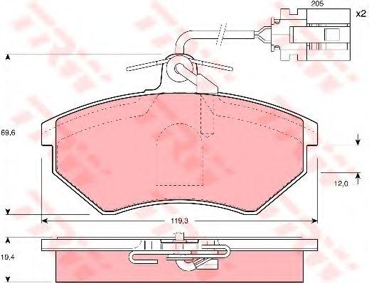 GDB1057  TRW - Гальмівні колодки до дисків TRW GDB1057
