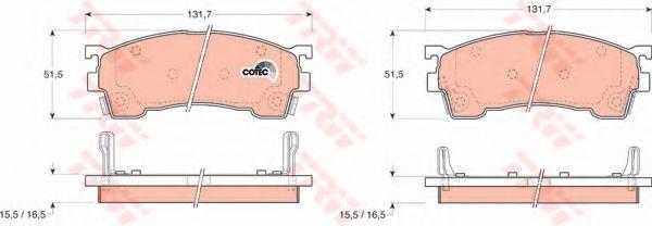 Колодка торм. MAZDA 626 передн. (пр-во TRW)                                                          REMSA арт. GDB1139