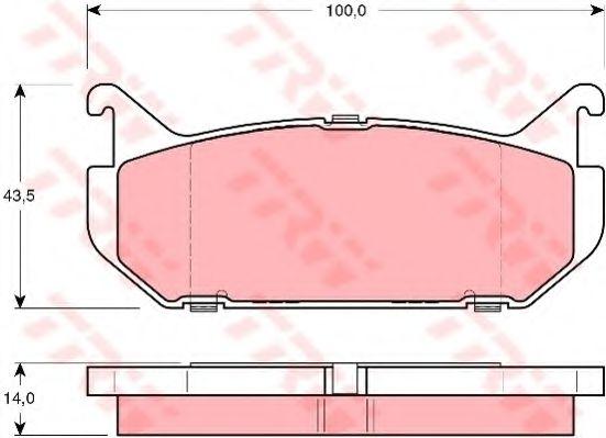GDB1140  TRW - Гальмівні колодки до дисків TRW GDB1140