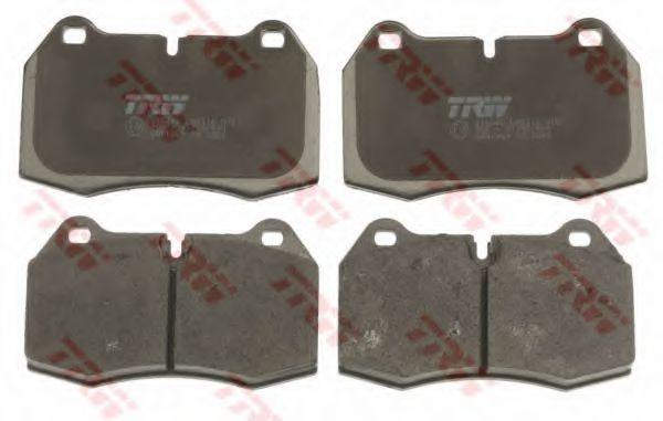 Колодка торм. BMW 5 (E34), 7 (E38), 8 (E31) передн. (пр-во TRW)                                       арт. GDB1269
