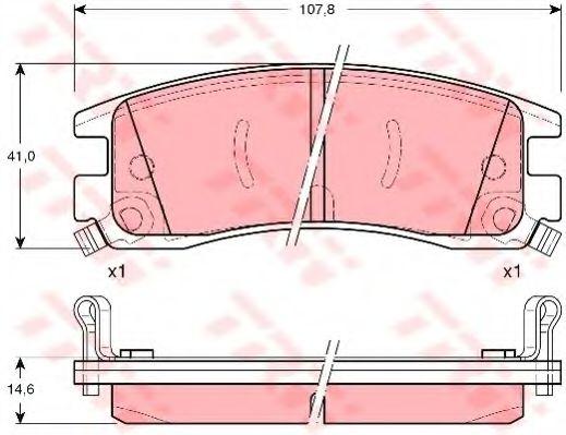 Комплект тормозных колодок, дисковый тормоз  арт. GDB1309