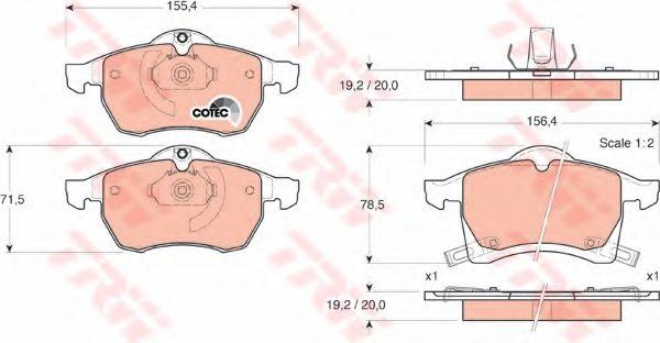 GDB1350  TRW - Гальмівні колодки до дисків LPR арт. GDB1350