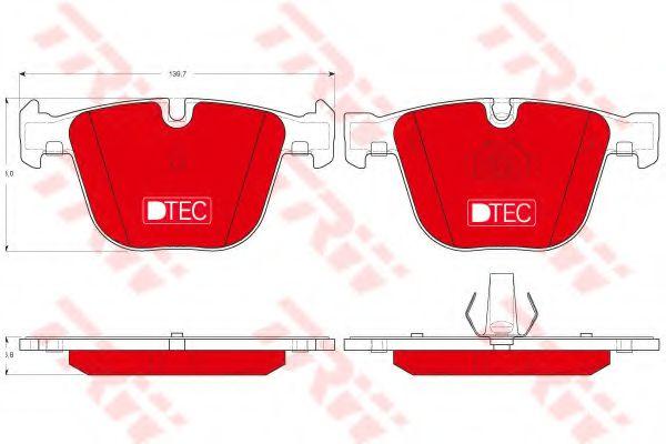 Комплект тормозных колодок, дисковый тормоз  арт. GDB1502DTE