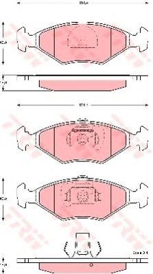 Комплект тормозных колодок, дисковый тормоз  арт. GDB1533