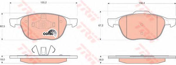 GDB1583  TRW - Гальмівні колодки до дисків ABS арт. GDB1583