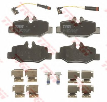 Комплект тормозных колодок, дисковый тормоз TRW GDB1601