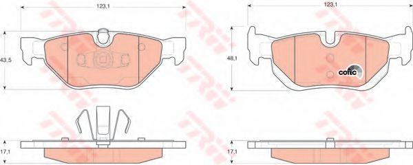 Тормозные колодки BMW E81, E90, E91, E92, E93 (про-во TRW)