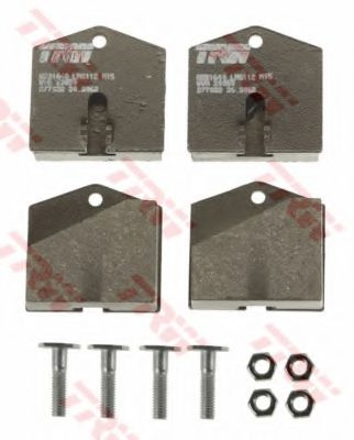 Комплект тормозных колодок, дисковый тормоз  арт. GDB1640