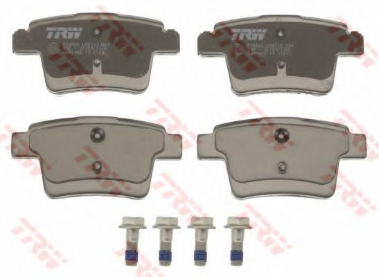GDB1665  TRW - Гальмівні колодки до дисків  арт. GDB1665