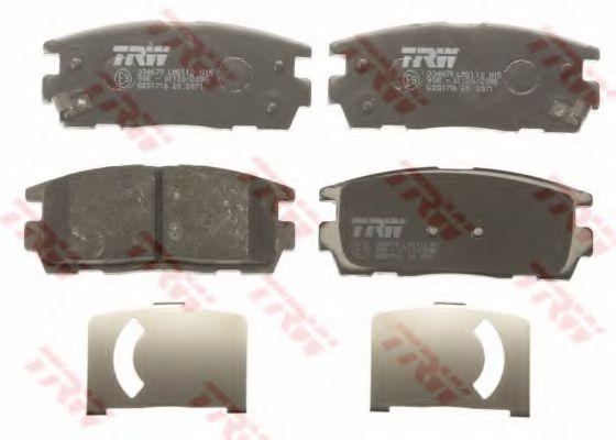 GDB1716  TRW - Гальмівні колодки до дисків  арт. GDB1716