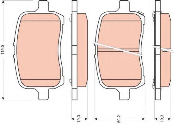 Комплект тормозных колодок, дисковый тормоз  арт. GDB1755