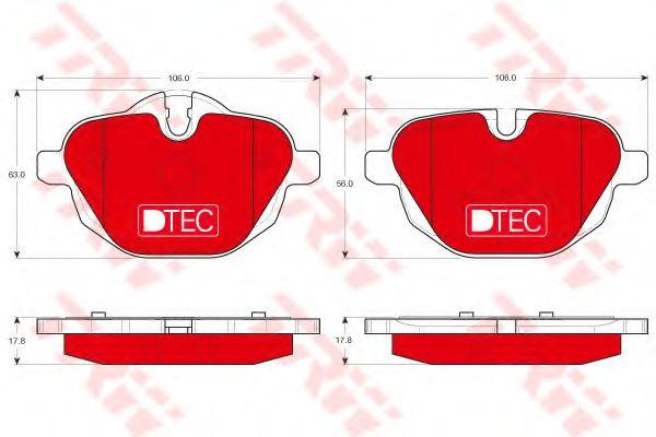 Комплект тормозных колодок, дисковый тормоз  арт. GDB1840DTE