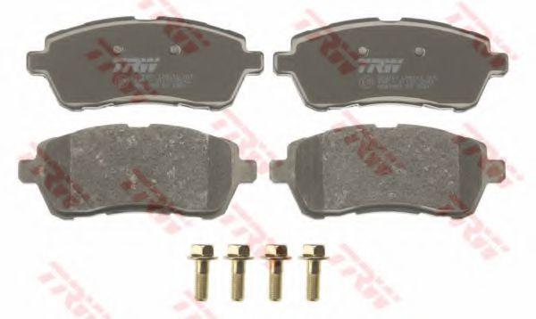 Комплект тормозных колодок, дисковый тормоз TRW GDB1893