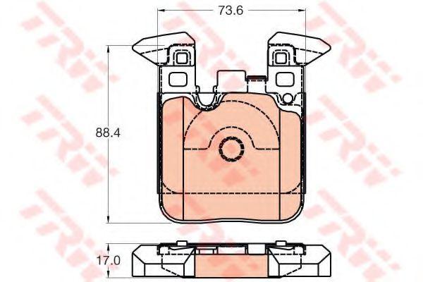 Колодки тормозные, дисковый тормоз (компл.)                                                           арт. GDB2028