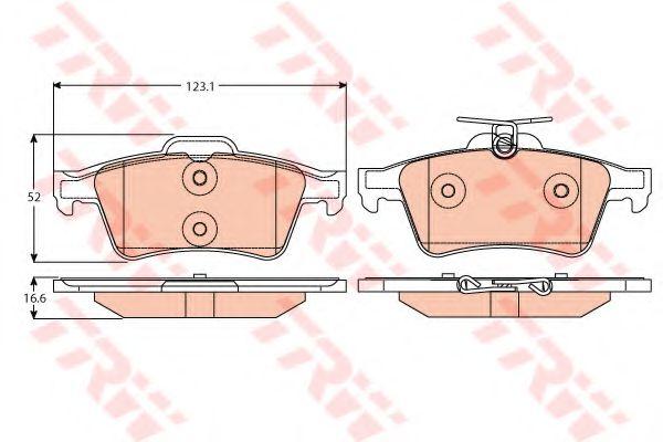 Тормозные колодки  арт. GDB2086