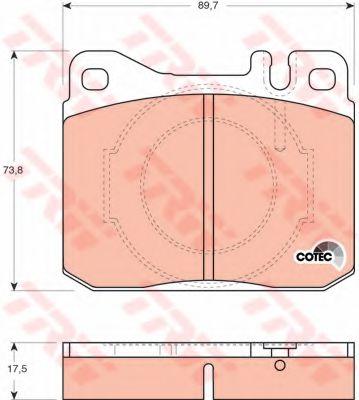 Колодка торм. MB S-CLASS передн. (пр-во TRW)                                                         TRW арт. GDB264
