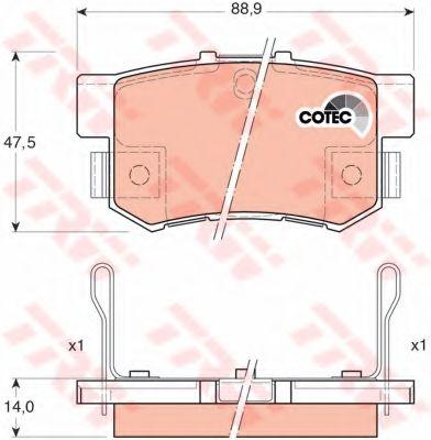 GDB3175  TRW - Гальмівні колодки до дисків REMSA арт. GDB3175