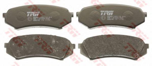 Комплект тормозных колодок, дисковый тормоз TRW GDB3198