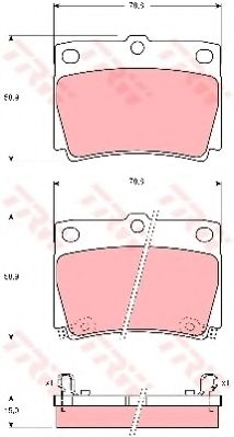 Колодка торм. MITSUBISHI PAJERO II (V2_W, V4_W) задн. (пр-во TRW)                                    REMSA арт. GDB3239