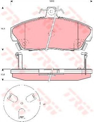 Колодка торм. HONDA CIVIC передн. (пр-во TRW)                                                        ASHIKA арт. GDB3267