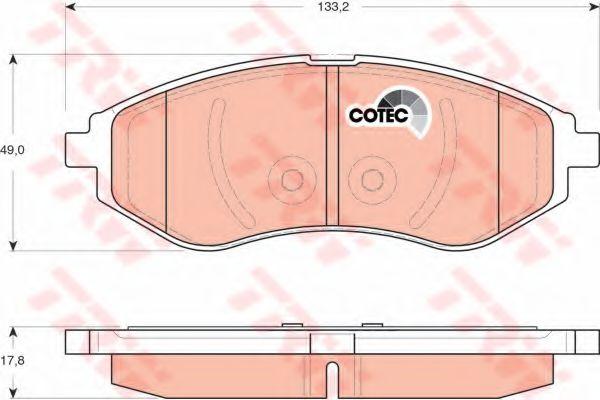 Колодка торм. CHEVROLET AVEO передн. (пр-во TRW)                                                     REMSA арт. GDB3330