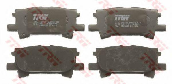 Гальмівні колодки дискові зад. Lexus RX 300/RX 400H 03- TRW GDB3339