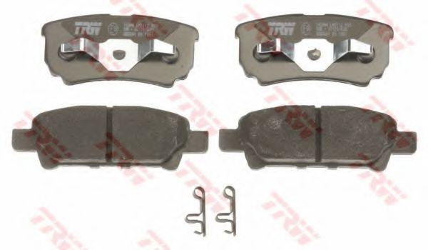 Комплект тормозных колодок, дисковый тормоз TRW GDB3341