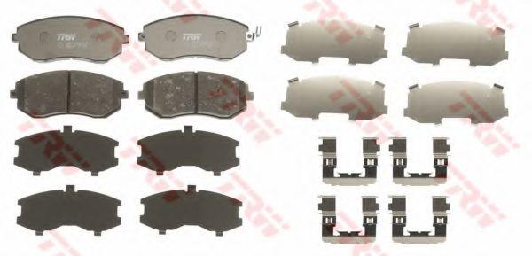 Комплект тормозных колодок, дисковый тормоз TRW GDB3371