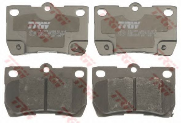 Комплект тормозных колодок, дисковый тормоз TRW GDB3399