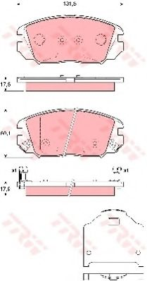 Колодка торм. HYUNDAI SONATA, HONDA CIVIC передн. (пр-во TRW)                                         арт. GDB3409