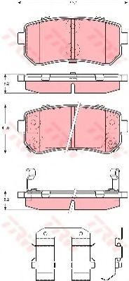 GDB3421  TRW - Гальмівні колодки до дисків !!! Заміна для GDB3451 ABS арт. GDB3421