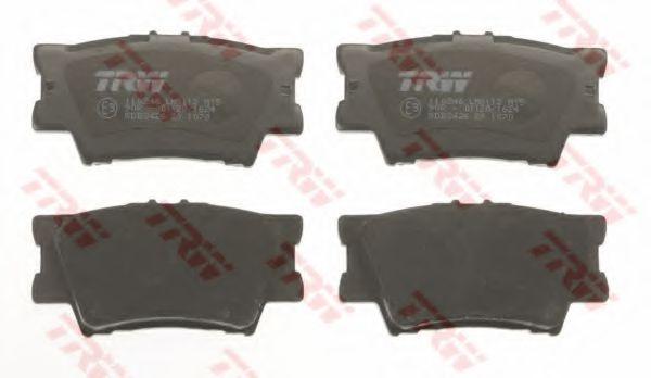 Комплект тормозных колодок, дисковый тормоз TRW GDB3426