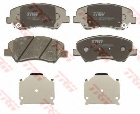 Комплект тормозных колодок, дисковый тормоз TRW GDB3548