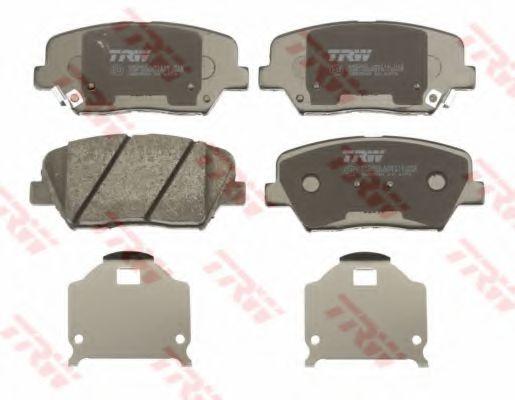 Гальмівні колодки дискові перед. Kia Sorento 2.0CRDi 10-/Hyundai Accent 1.4 10- TRW GDB3549