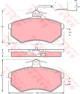 Комплект тормозных колодок, дисковый тормоз  арт. GDB404