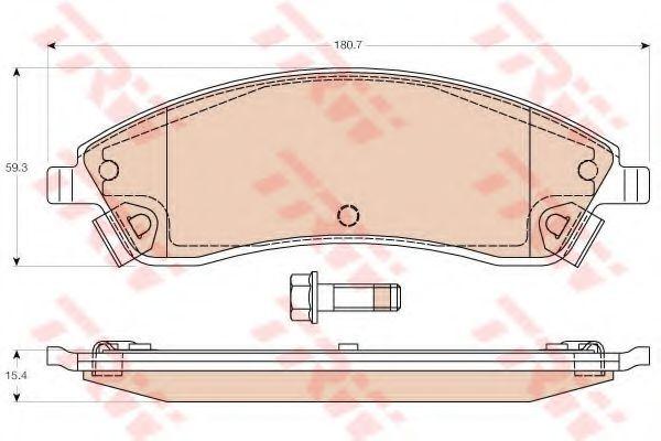 Комплект тормозных колодок, дисковый тормоз  арт. GDB4451