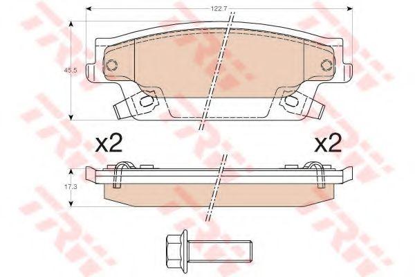 Комплект тормозных колодок, дисковый тормоз  арт. GDB4452
